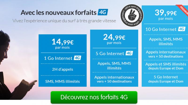 Prixtel lance 3 nouveaux forfaits 4G, de 14,99€ à 39,99€