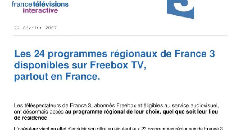 Free et France 3, trois années de travail conjoint