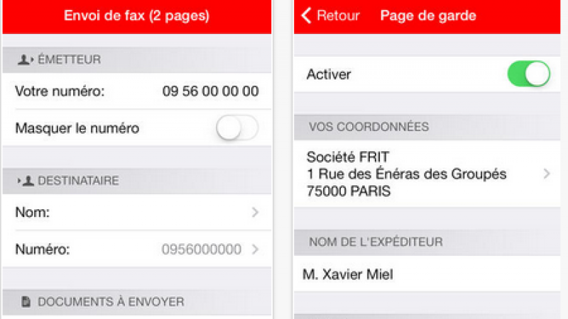 Freebox Fax : l'application s'adapte pour iOS 6 et 7