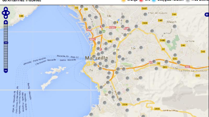 4G à Marseille : Free Mobile meilleur que  Bouygues, SFR et Orange avec moins d'antennes