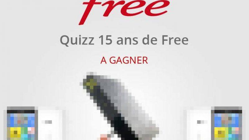 Concours des 15 ans : Free contactera les gagnants en début de semaine prochaine