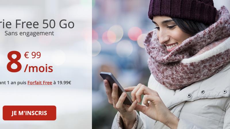 """Free Mobile : le forfait """"Série Free 50 Go"""" poursuit son bonhomme de chemin"""
