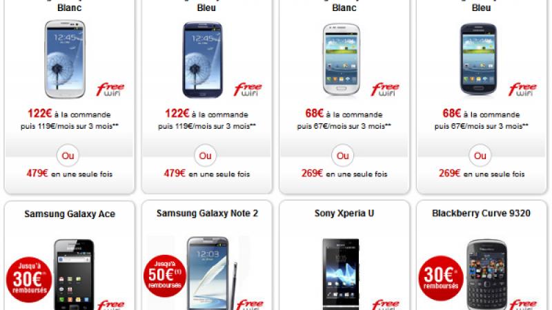 Free Mobile baisse les prix de plusieurs mobiles dans la boutique en ligne