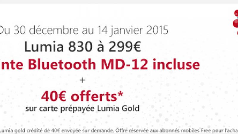 Free Mobile : une Enceinte Bluetooth offerte pour l'achat d'un Lumia 830