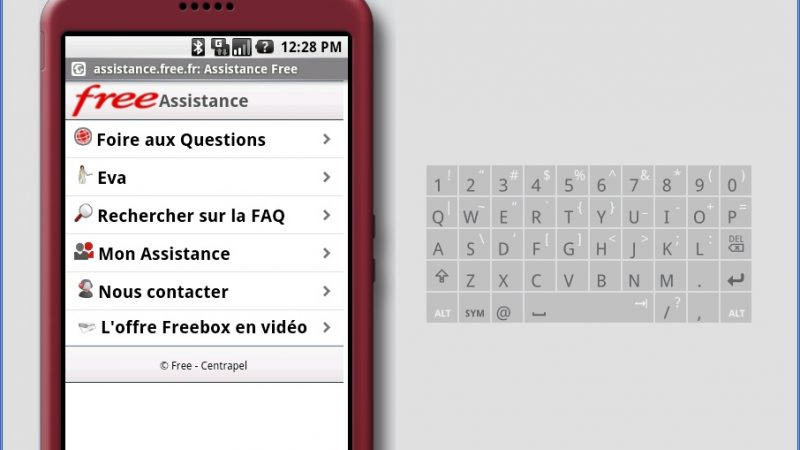 L'assistance Free disponible sur Google Phone (Android)