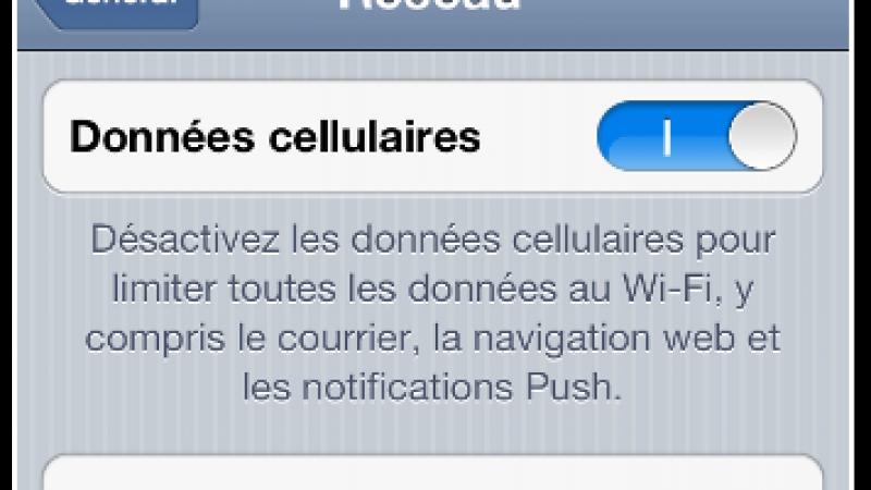 Configurez votre iPhone sur le réseau Free Mobile