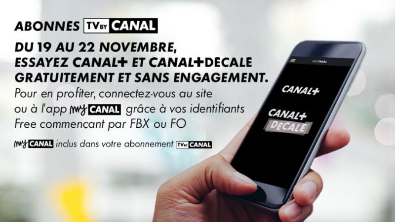 Abonnés Freebox avec TV by Canal : les deux chaînes Canal+ et Canal+ Décalé sont gratuites pendant quelques jours