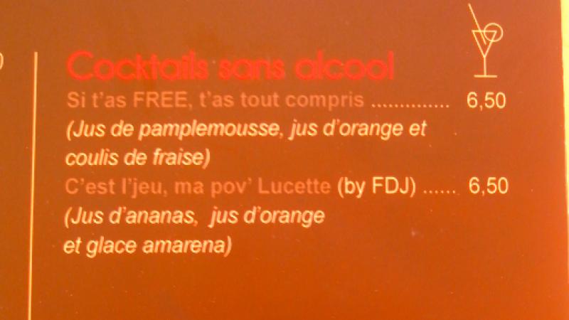 Clin d'oeil : Free n'est pas la mer à boire mais le cocktail à déguster