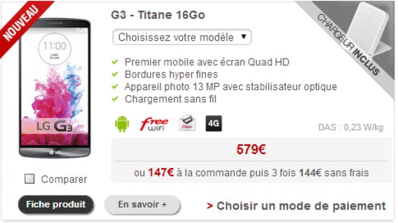 Le LG G3 débarque chez Free Mobile