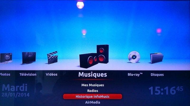 Historique InfoMusic : retrouvez toutes les chansons qui vous ont interpelées sur la Freebox