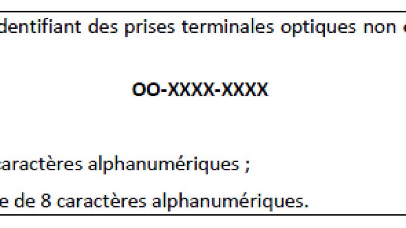 ARCEP :  des identifiants en 10 chiffres attribués pour chaque ligne FTTH installée