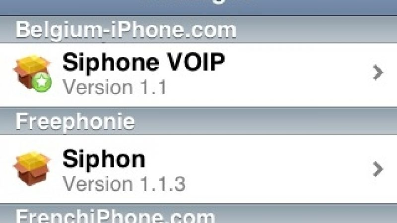 [MàJ] iPhone : SiphoneVOIP siphonne Siphon (Free) ?
