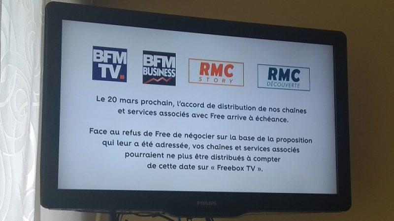 Reprise de BFM et RMC : Free refuse de négocier avec Altice devant le CSA
