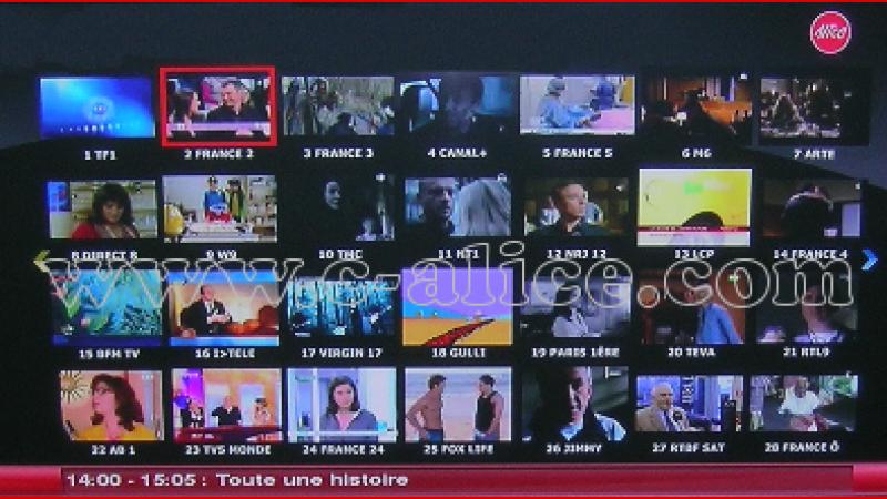 La nouvelle interface Alicebox en image: Freebox TV voit la vie en rose !