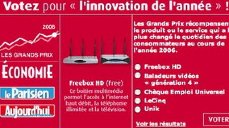 """Votez pour """"l'innovation de l'année"""" !"""