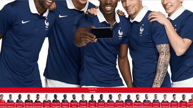 """SFR """"poke les bleus"""" sur les écrans du Stade de France"""