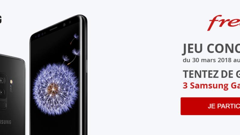 Free Mobile lance un jeu concours et fait gagner trois Samsung Galaxy S9
