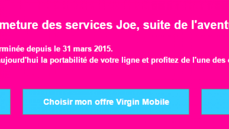 Joe Mobile baisse le rideau au profit de Virgin Mobile