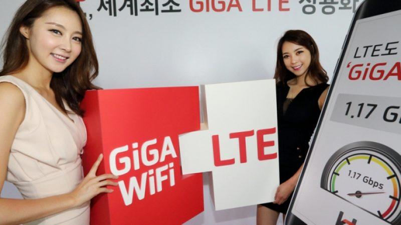 Des débits permettant d'atteindre 1.17 Gb/s en Giga LTE