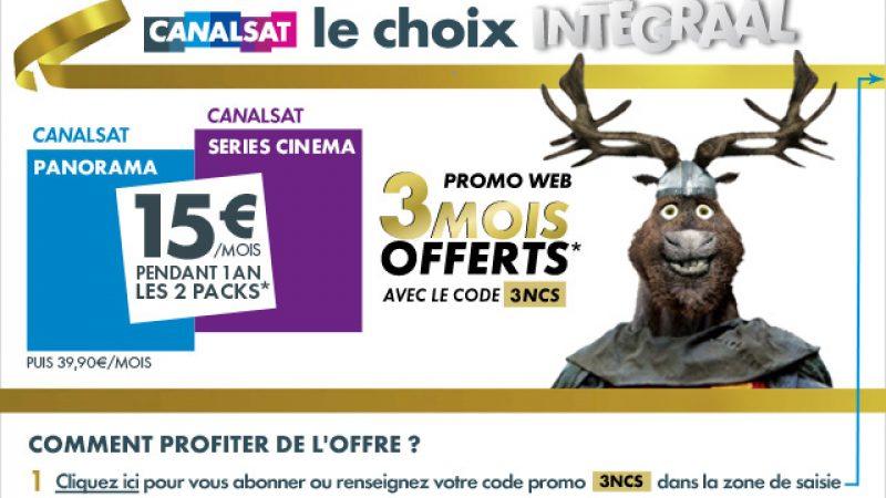 Déjà une première promo pour les nouvelles formules de Canalsat