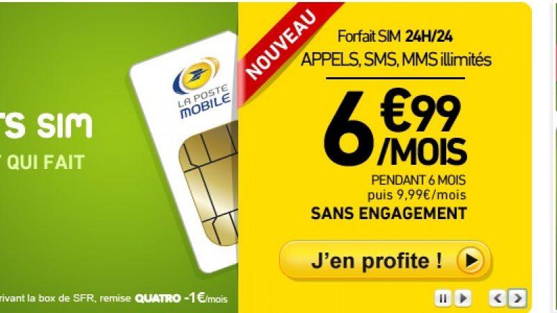 """La Poste Mobile propose un forfait """"illimité"""" (sans Fair Use) à moins de 10 €"""