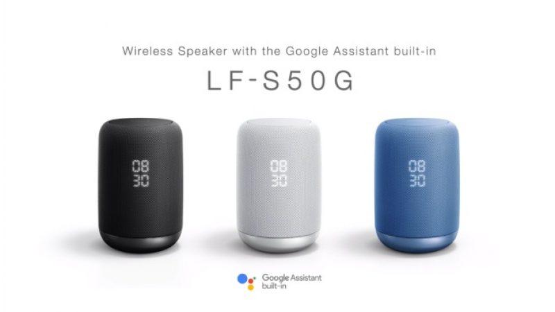 Sony lance sa nouvelle enceinte connectée dotée du Google Assistant