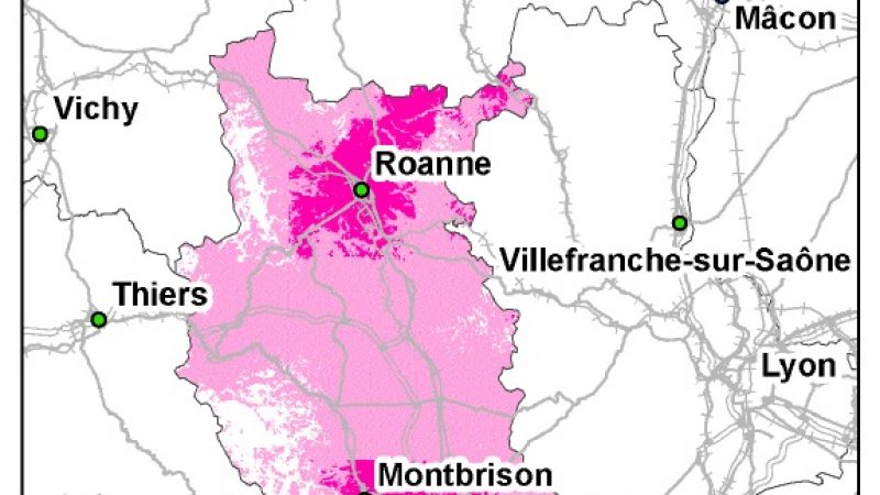 Rhône-Alpes : La 3G Free Mobile se concentre hors du massif alpin.