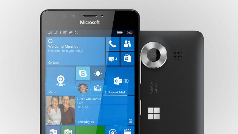 Microsoft dévoile les Lumia 950 et 950 XL