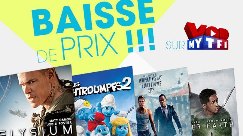 Vidéo Club Freebox : MYTF1 VOD lance une baisse des prix sur des films récents