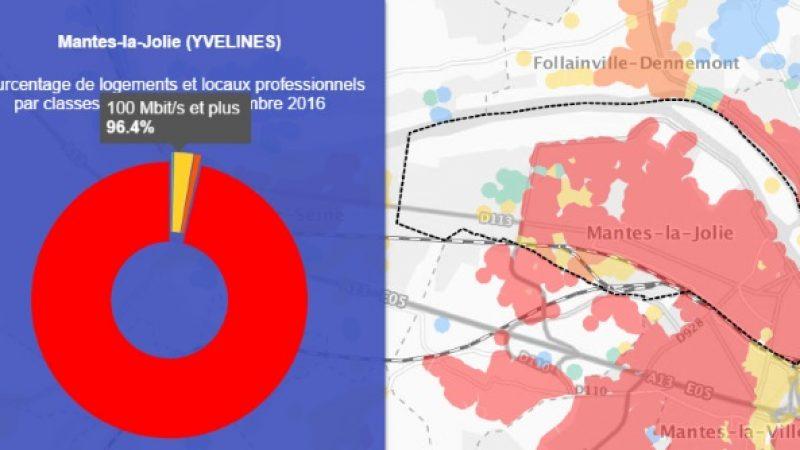 Découvrez les cartes du déploiement très haut débit de Mantes-la-Jolie