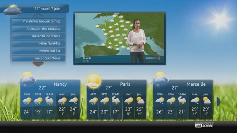 Une nouvelle application pour suivre l'évolution de la météo depuis votre Freebox Révolution