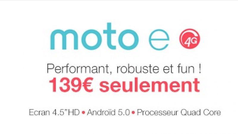 Le nouveau Motorola E 4G est arrivé chez Free Mobile