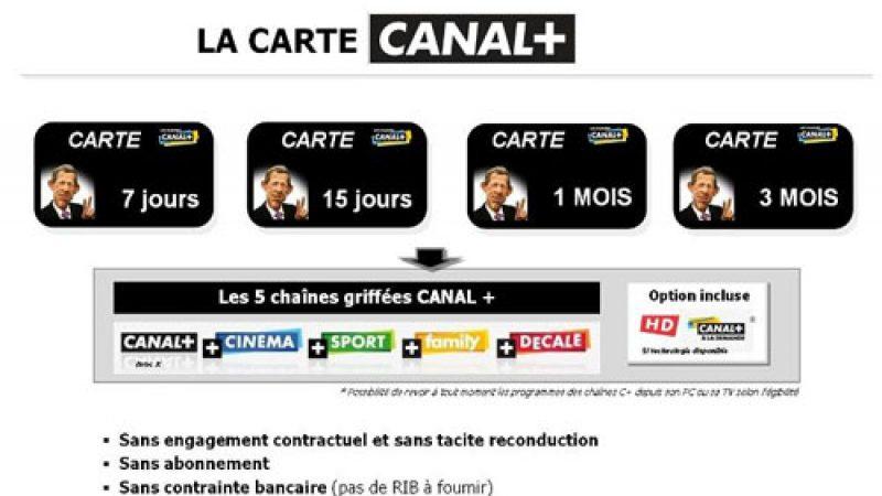 Canal+/Canalsat sur le point de lancer des cartes prépayées sur l'ADSL