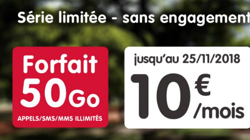 NRJ Mobile brade son forfait 50 Go à 10€ à vie