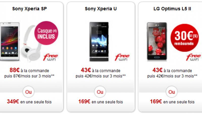 Free Mobile : 30 € remboursés pour l'achat d'un LG Optimus L5 II