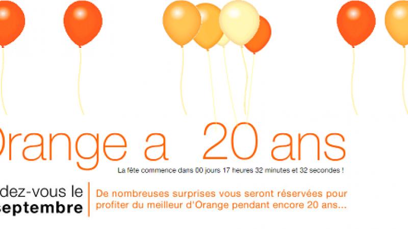 Orange célèbre ses 20 ans et promet des surprises