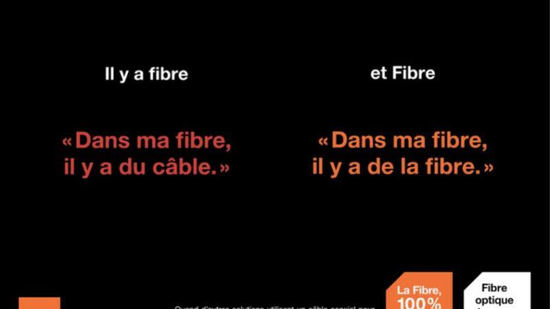 Orange lance une campagne pour différencier la « vraie fibre » de la « fausse fibre » de Numéricâble