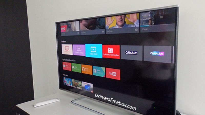 Découvrez l'interface de la nouvelle Freebox mini 4K sous Android TV