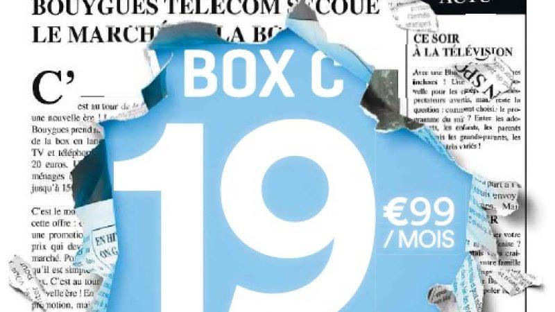 Bouygues lance une campagne presse pour sa box à 19,99€, avec une lettre de résiliation pour les abonnés des autres F.A.I
