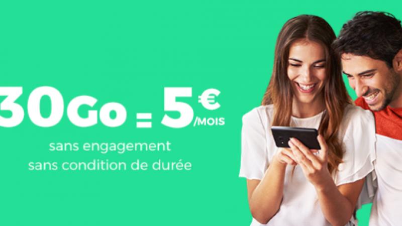 RED By SFR canarde un forfait 30 Go à 5 euros sans engagement et à vie sur Showroom Privé