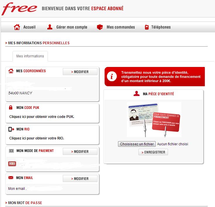comment trouver le numero de contrat free mobile