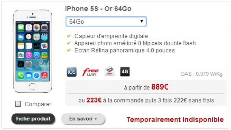 "Terminaux Free Mobile : une disparition et une ""indispo"" temporaire"