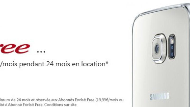 Les Samsung Galaxy S6 et S6 Edge disponibles dans la boutique Free Mobile, y compris en location