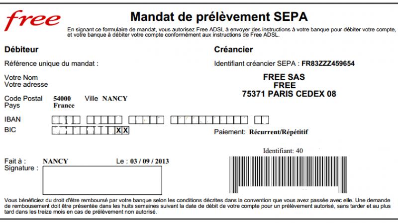 [MàJ] Les abonnés Freebox passent en prélèvement SEPA