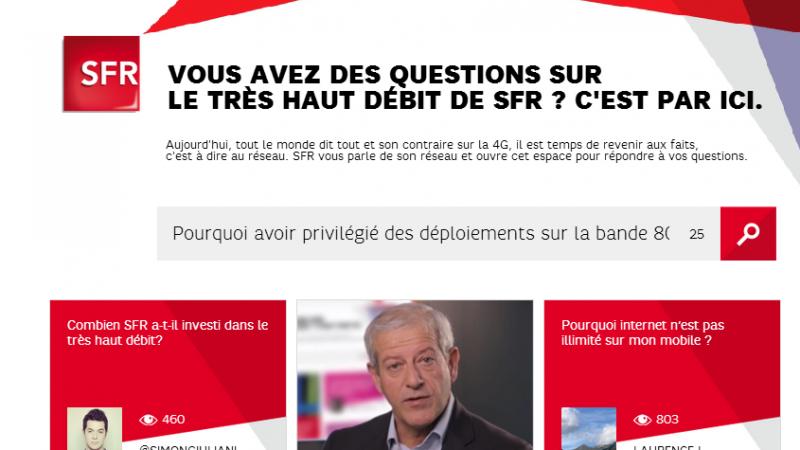 """SFR lance sa plateforme, pour tout savoir sur le réseau, """"en toute transparence"""""""