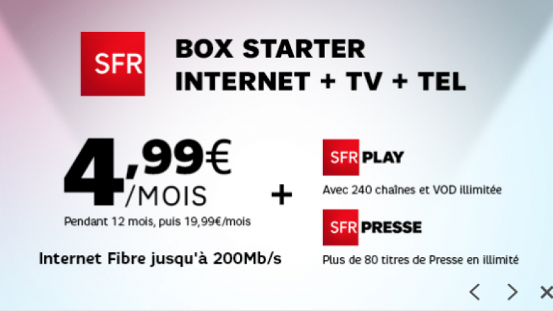 SFR : une offre spéciale sur Showroom Privé où la location de la box fait doubler le prix