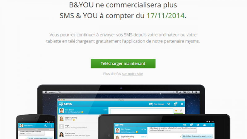 Bouygues mettra fin à SMS&You le 17 novembre