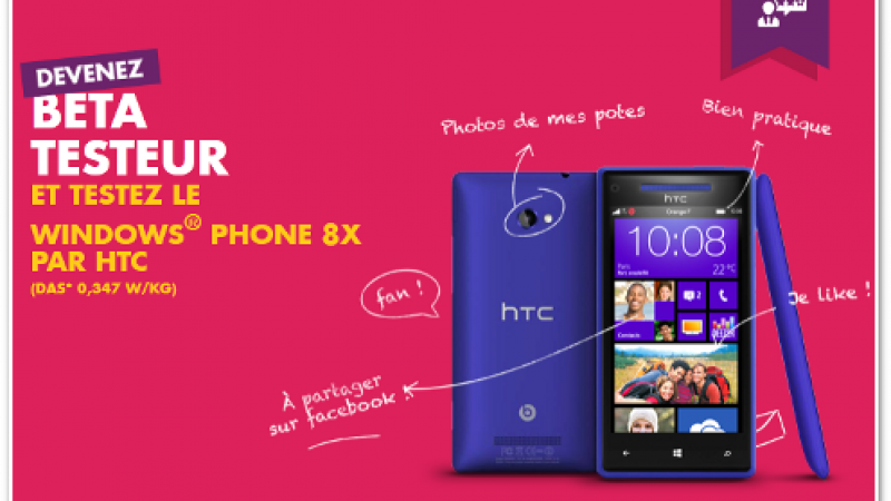 Testez le Windows Phone 8X par HTC avec… Sosh
