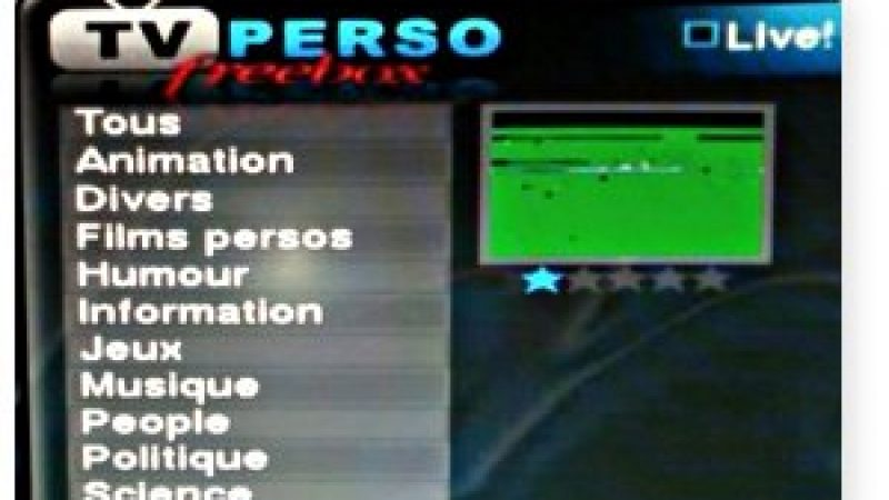 Nouveau : Section TV Etrangères sur TV Perso