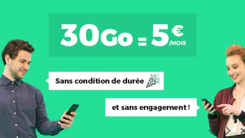 RED by SFR lance un forfait RED 30 Go à 5€/mois à vie sur Showroom Privé